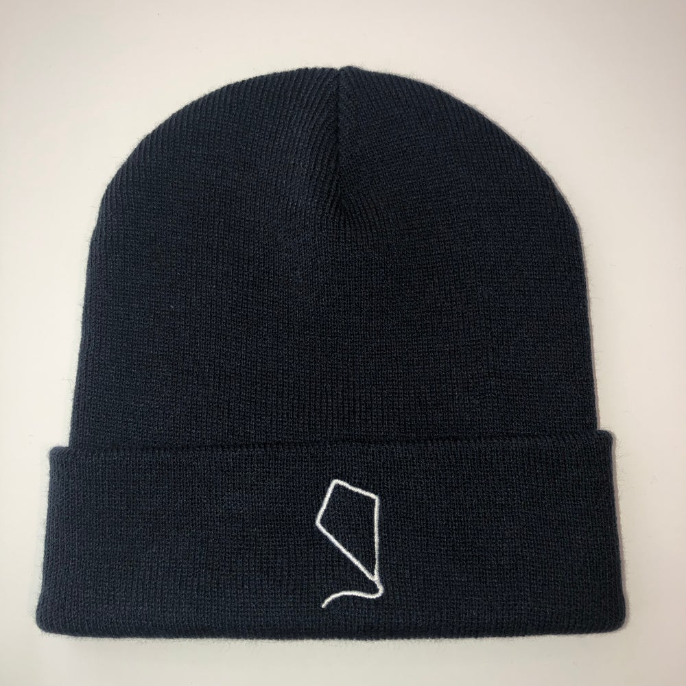 Image of Indoor Kites Logo Navy Beanie