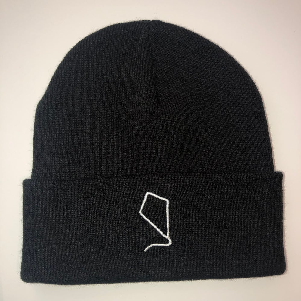Image of Indoor Kites Logo Black Beanie