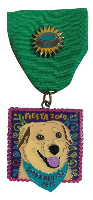 Image of 2019 Fiesta Medal Dog with Lapel Pin