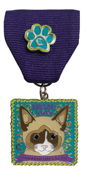 Image of 2019 Fiesta Medal Cat with Lapel Pin