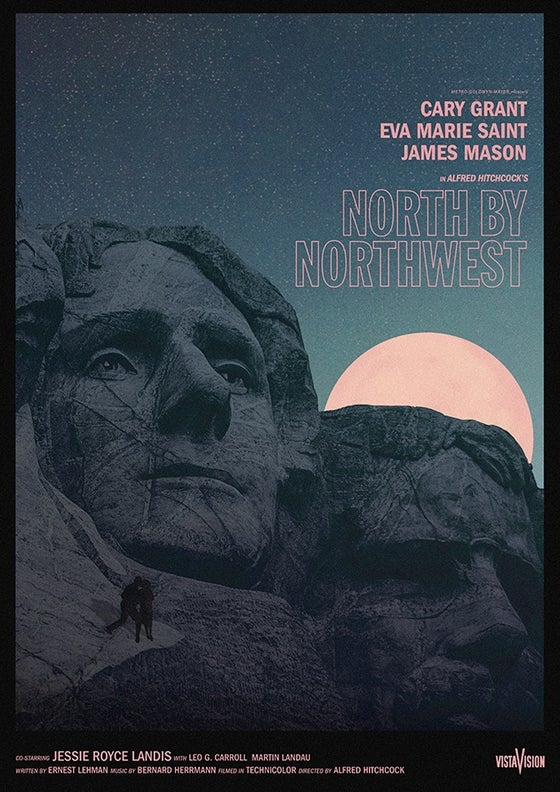 Image of North By Northwest A3 Test Print