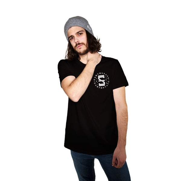 Image of HOURGLASS TSHIRT (UNISEX) BLACK/NOIR