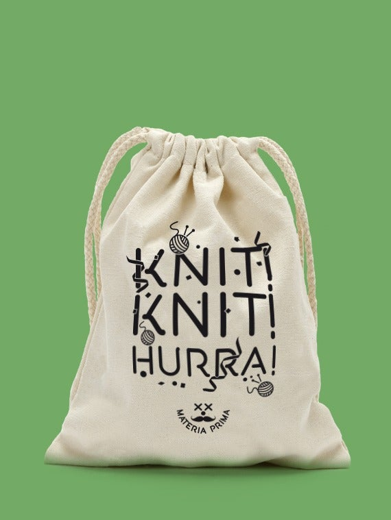 "Image of Bolsa de labores: ""Knit Knit Hurra!"""