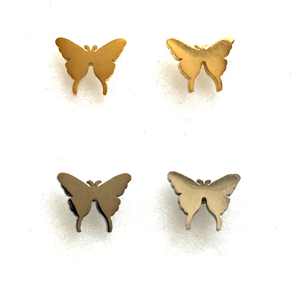 Image of Molten Butterfly Stud Earrings