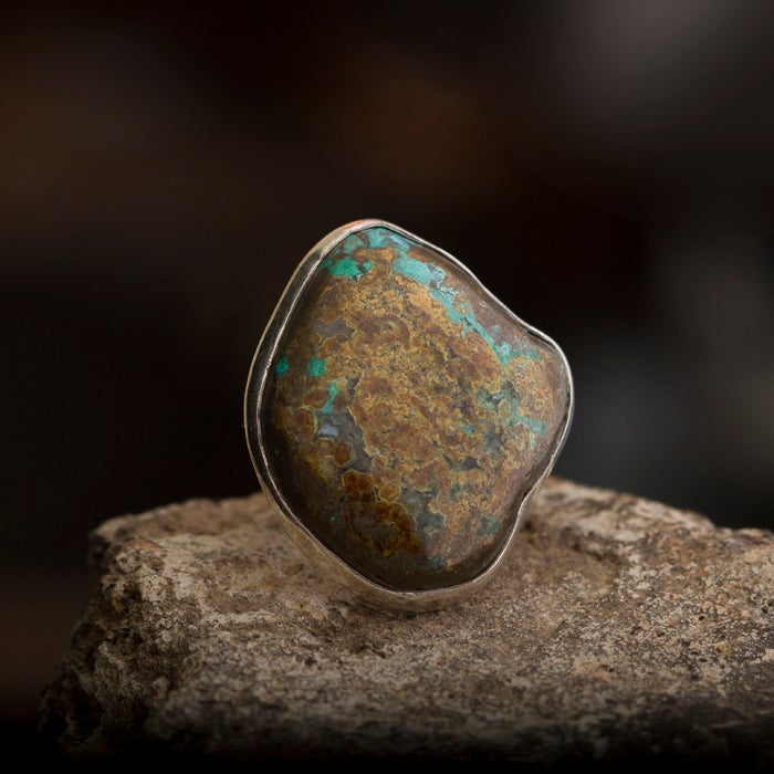 Image of Nature Nymph Ring • Chrysocolla • Size 9.5