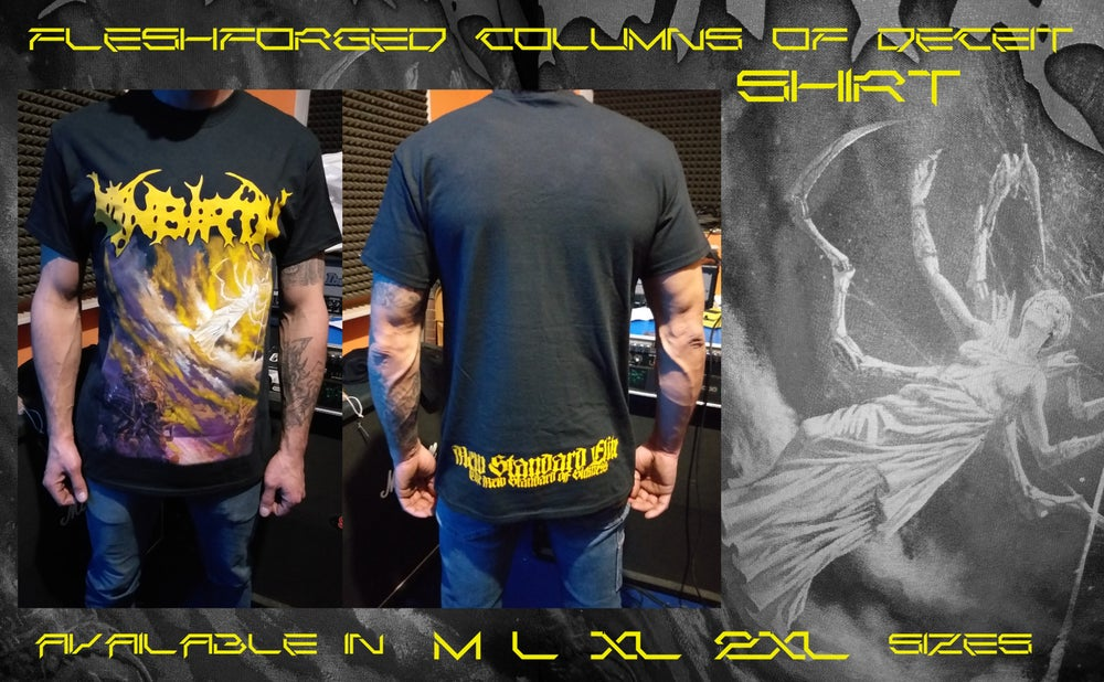 Image of FLESHFORGED COLUMNS OF DECEIT SHIRT !!!!! //// NEW ////
