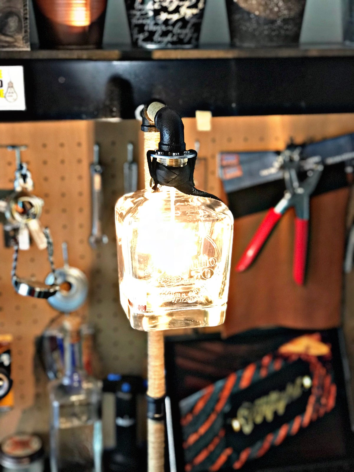 "Image of ""The Don"" Tequila Table Lamp"
