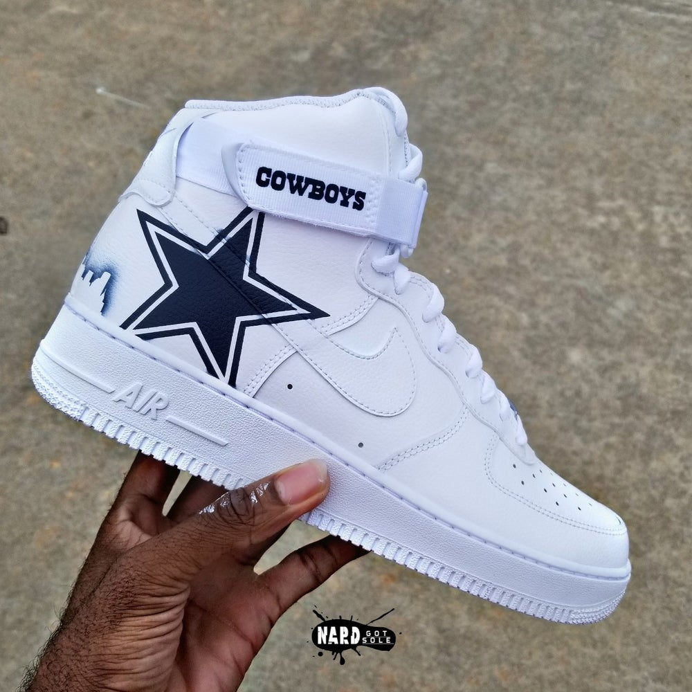 Image of White Cowboys Af1 Hi