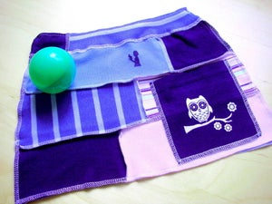Image of Owl Patched up Upcycled Skirt with one large Pocket