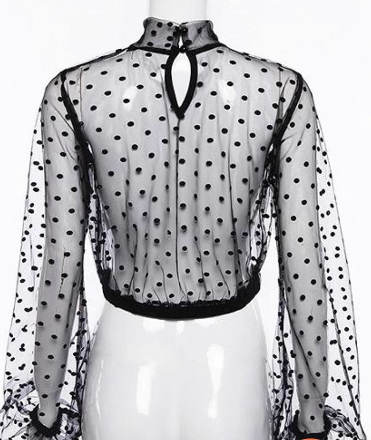 Image of Spot the Dots Sheer Top