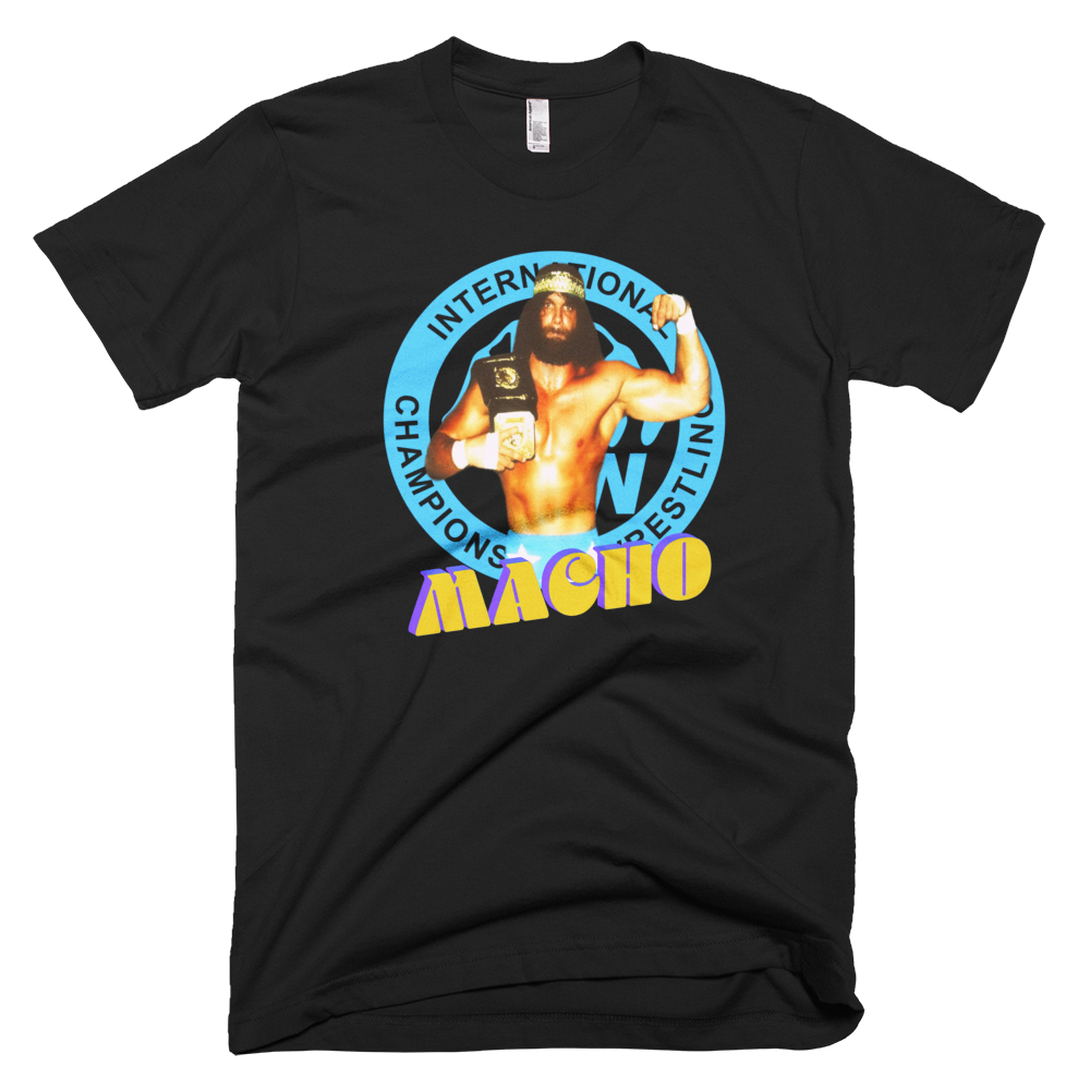 Image of Macho Is My Name: ICW World Champion Randy Savage (Special Gold Edition with Rear Neckline ICW Logo)