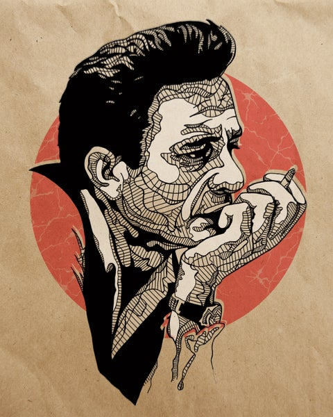 Image of Johnny Cash - India Ink