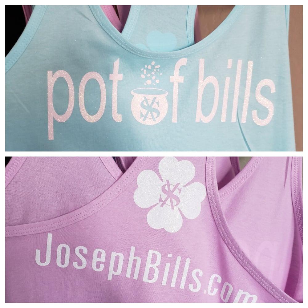 Image of Pot of Bills tanks (powder blue / pink)