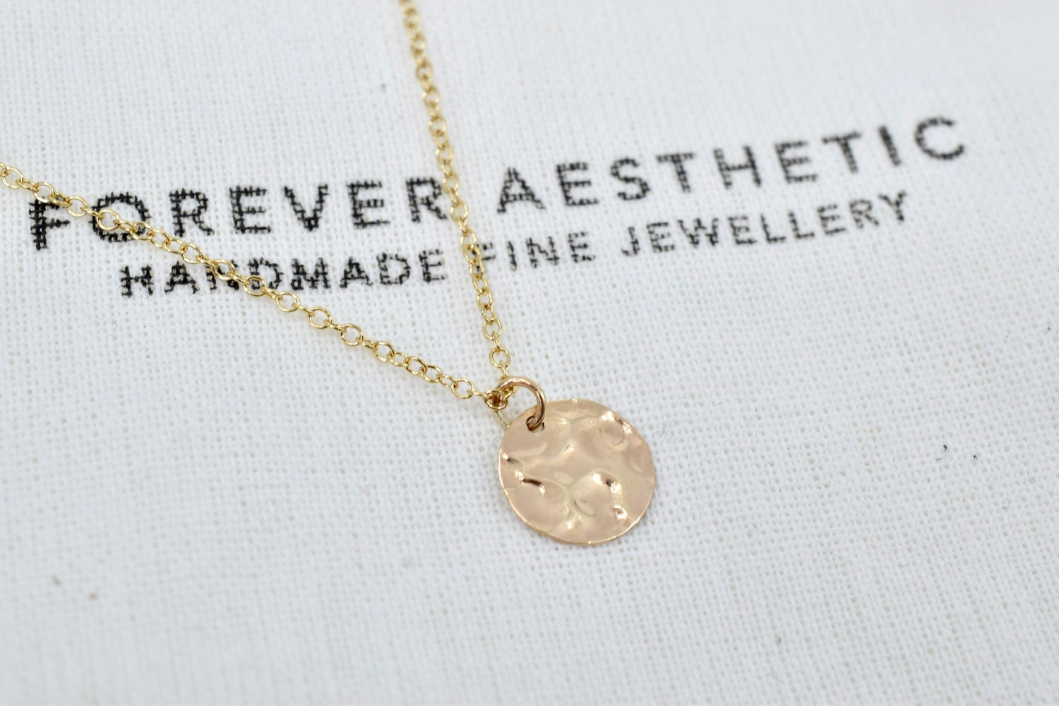 Image of Little Moon Necklace in 14k Gold Filled