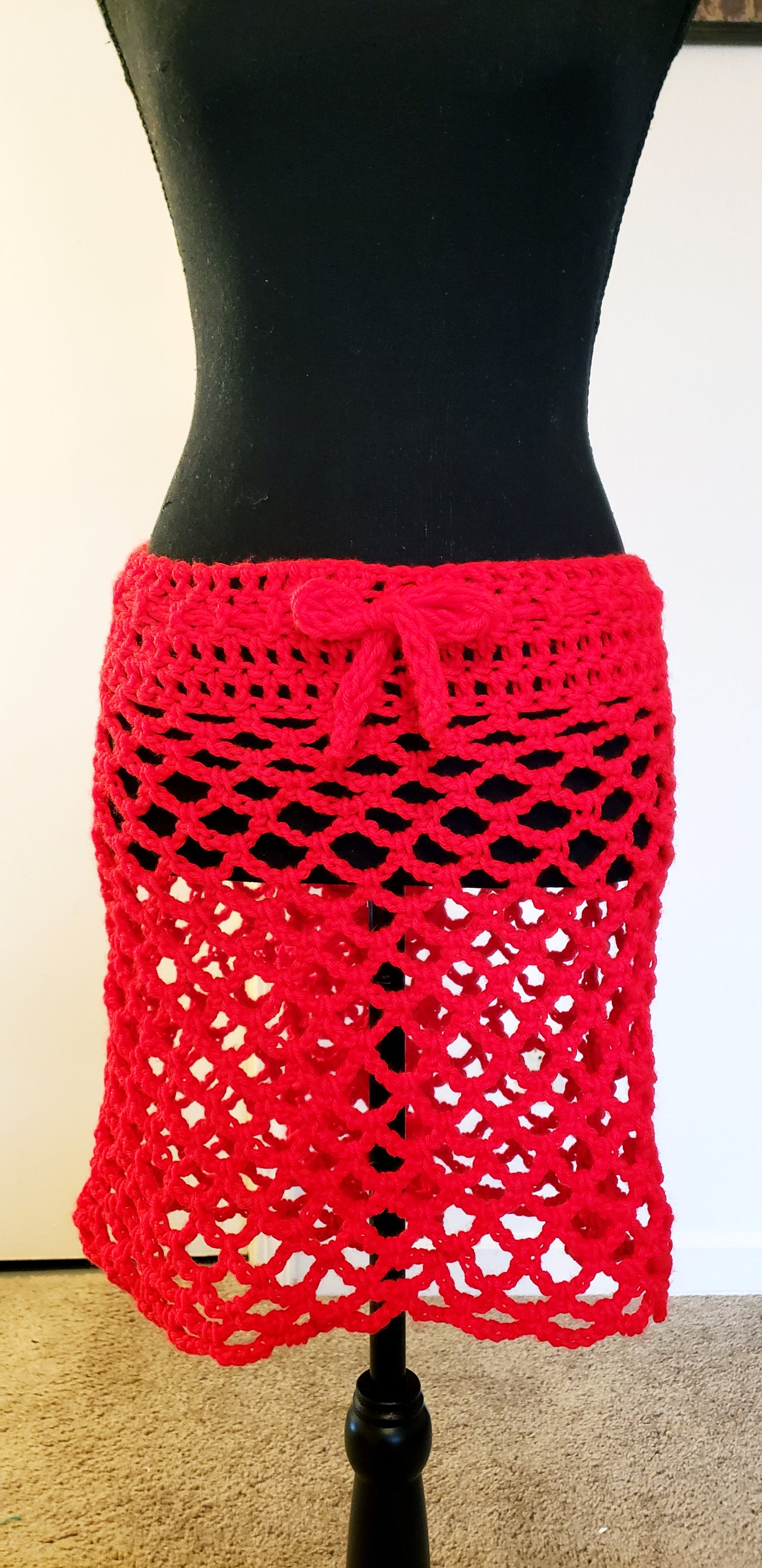 Image of Peekaboo Mini-Skirt Coverup (Plus)