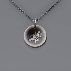 Image of Tiny Cupped Honey Bee Necklace