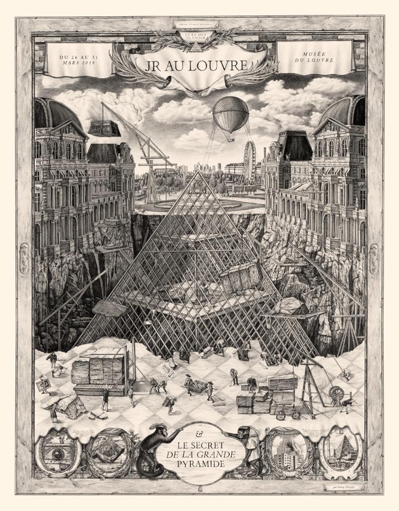 Image of JR au Louvre 2019 - 100x130cm - limited 5 copies
