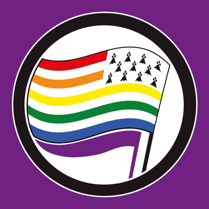 """Image of PRÉ-VENTE nouveaux grands drapeaux """"BREIZH PRIDE"""" ! RAKGWERZH bannieloù nevez !"""