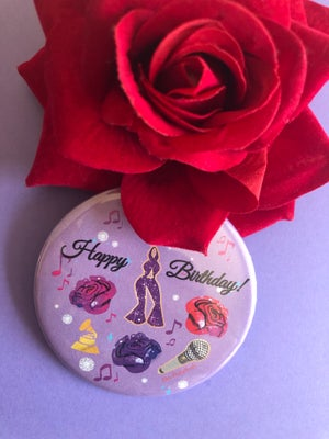 Queen Birthday Button-✨New✨Lavender Color