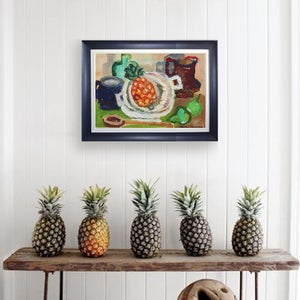 Image of 1971 Still Life, 'Pineapple,' Hans Larsson