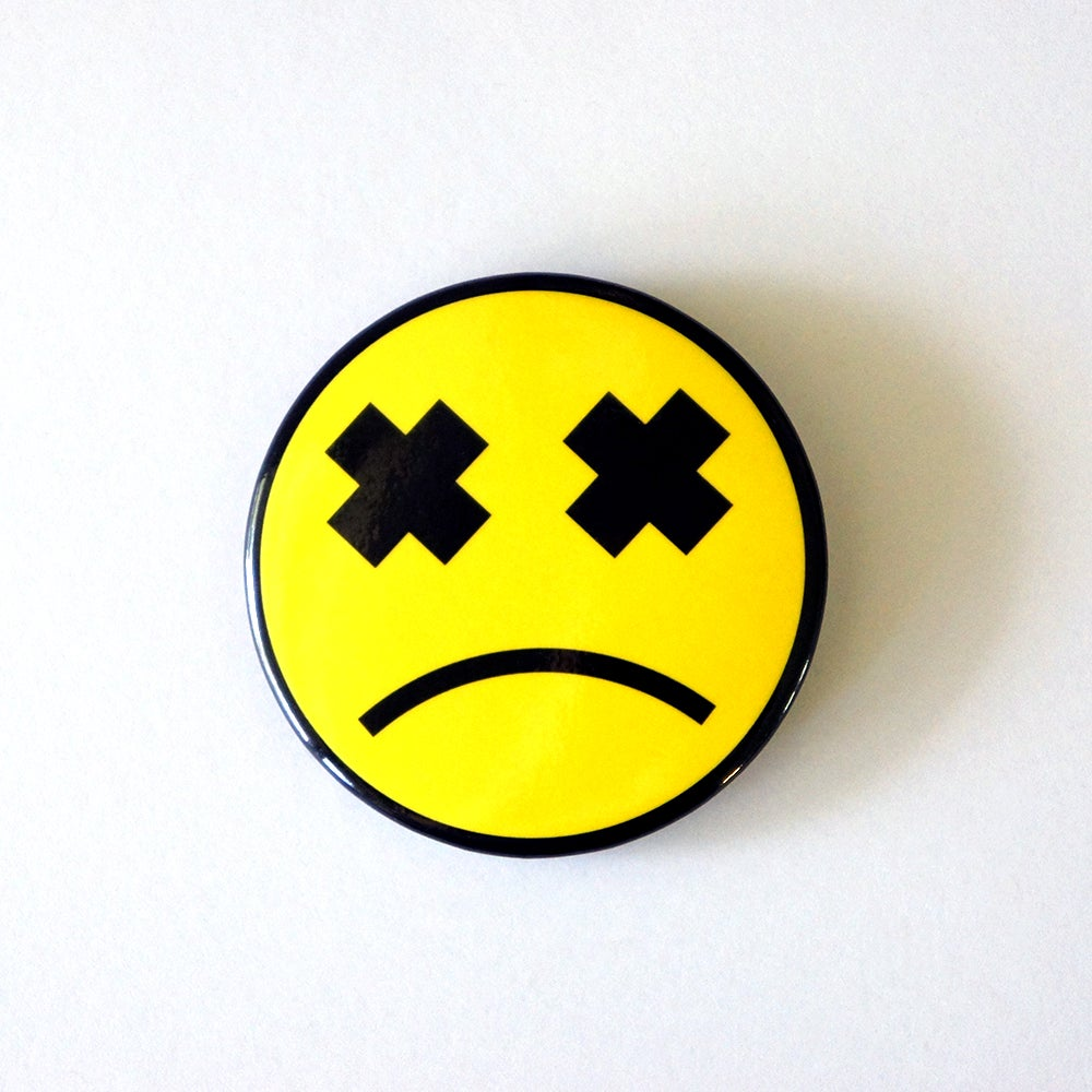 Image of Sad Smiley Button