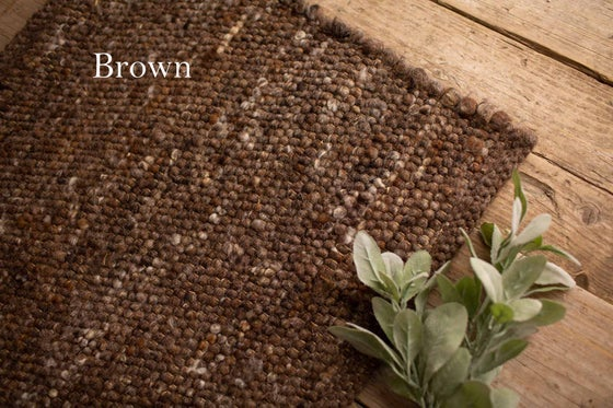Image of Rustic Woven Wool Mats