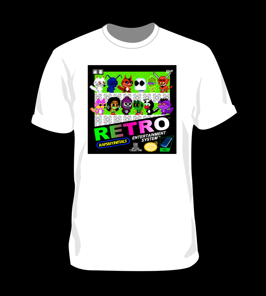 Image of White Retro Collector T-shirt