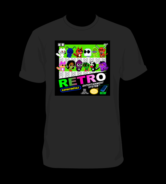 Image of Black Retro Collector T-shirt