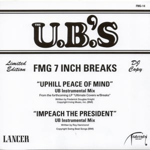 "Image of Uphill Peace Of Mind (UB Instrumental Mix) / Impeach The President (UB Instrumental Mix) - 7"" Vinyl"
