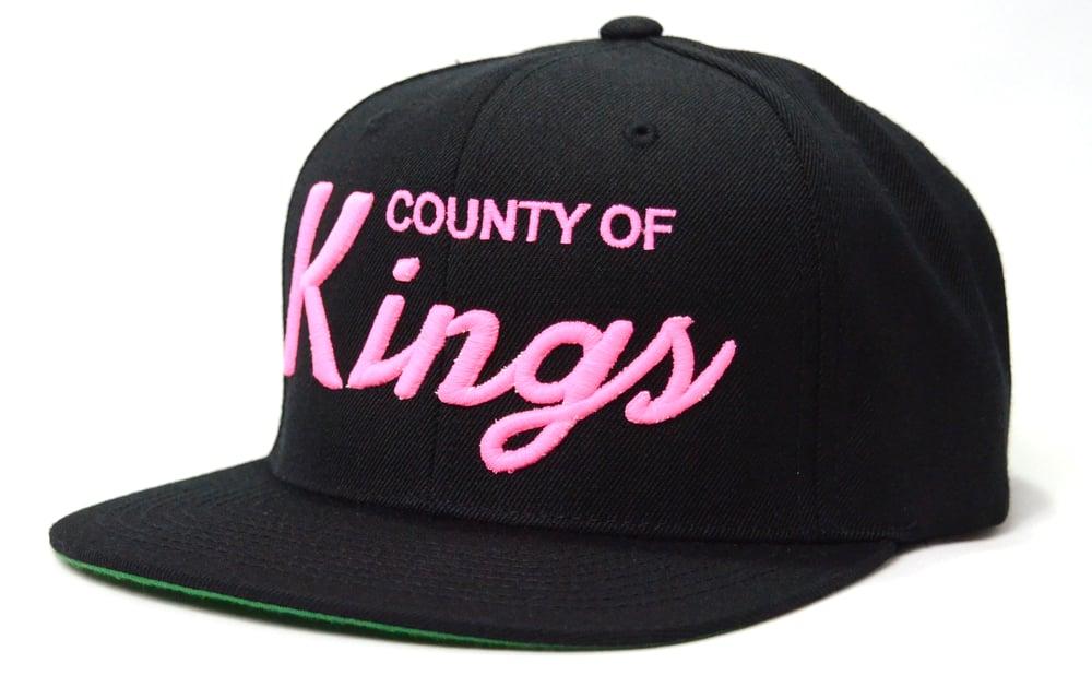 Image of COUNTY OF KINGS (BLACK/PINK) - SNAPBACK