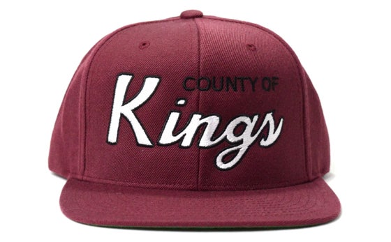 Image of COUNTY OF KINGS (MAROON) - SNAPBACK