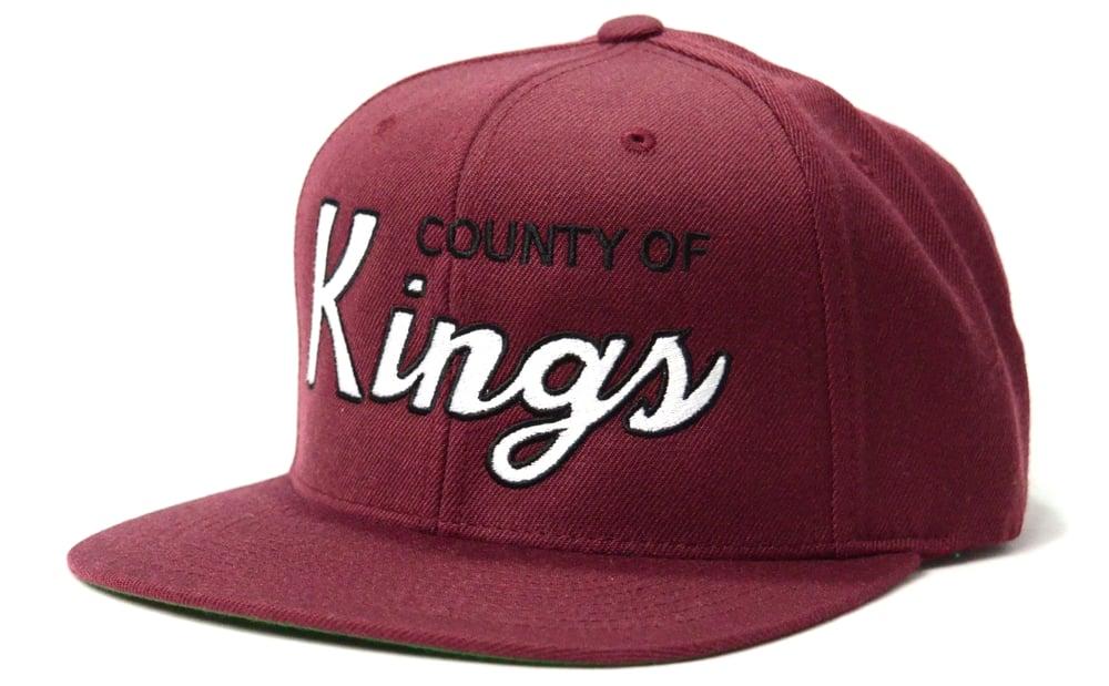 Image of COUNTY OF KINGS (MAROON) - SNAPBACK