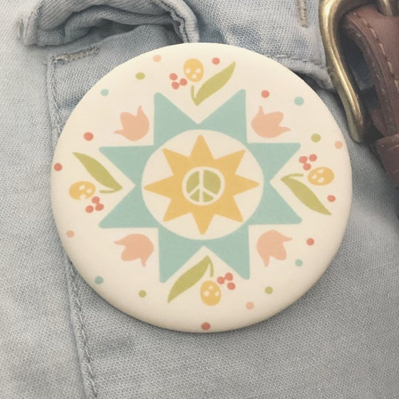 Image of Spring Peace Quilt - Pinback Button