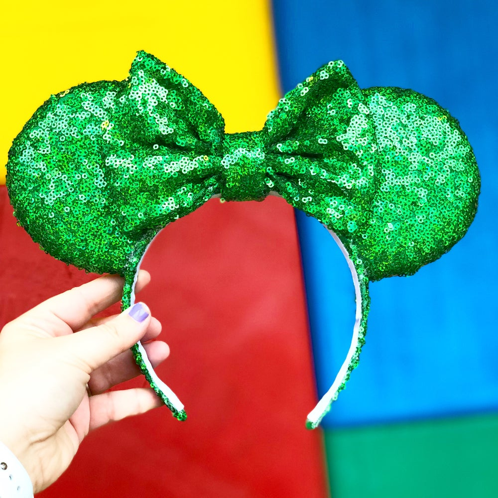 Image of Rex Green Holographic Sequin Ears
