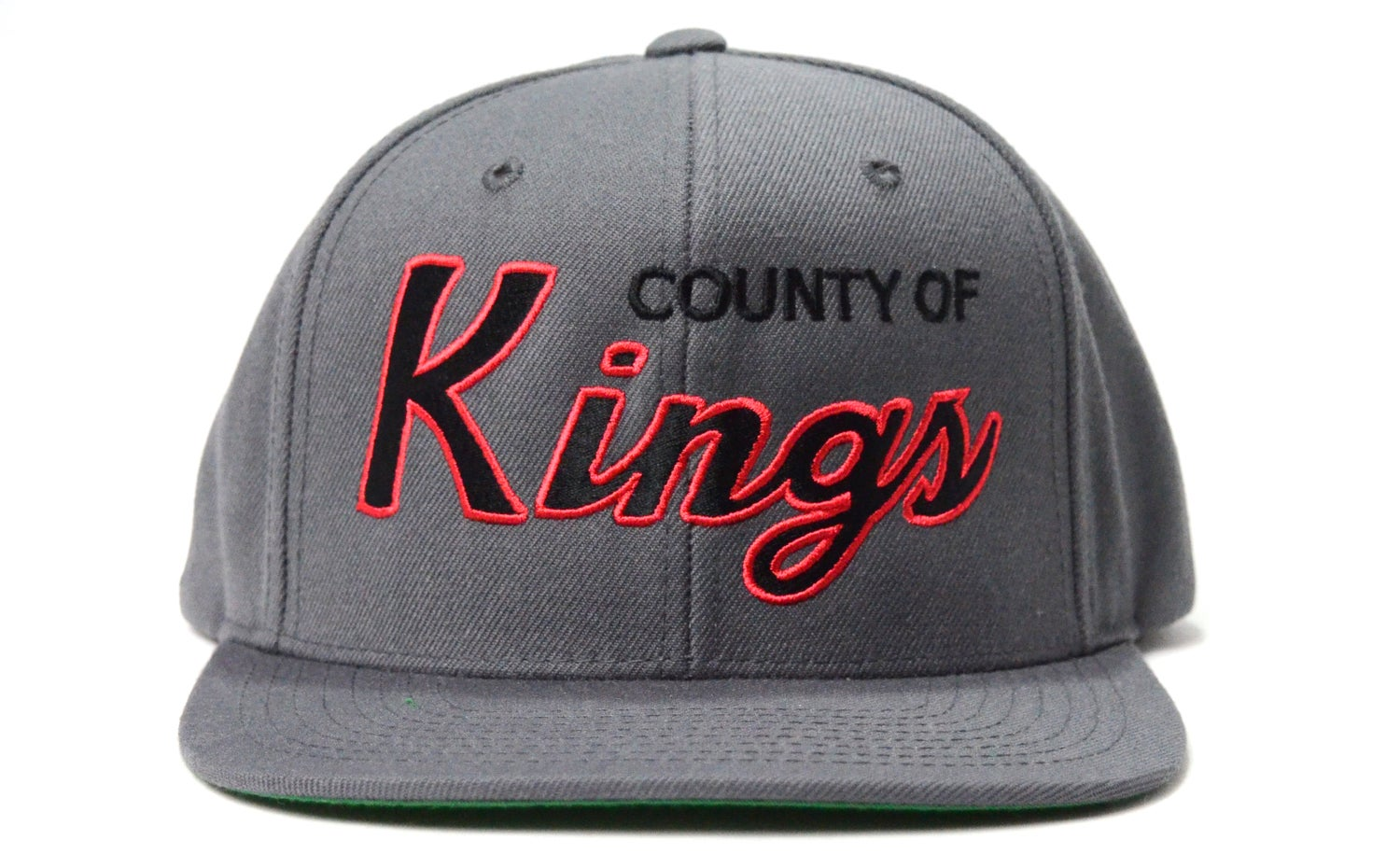 Image of COUNTY OF KINGS (GREY/BLACK/RED) - SNAPBACK