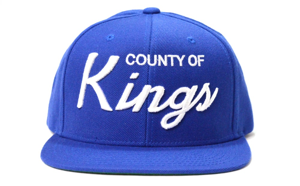 Image of COUNTY OF KINGS (BLUE/WHITE) - SNAPBACK
