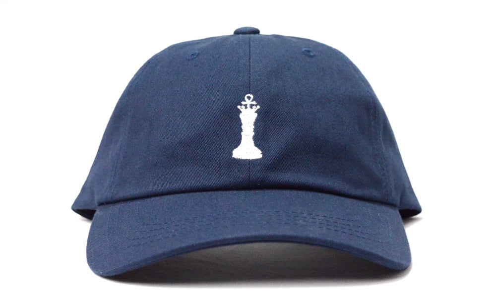 Image of BRKLYN FIT® ANKH CHESS PIECE (NAVY BLUE) - DAD HAT