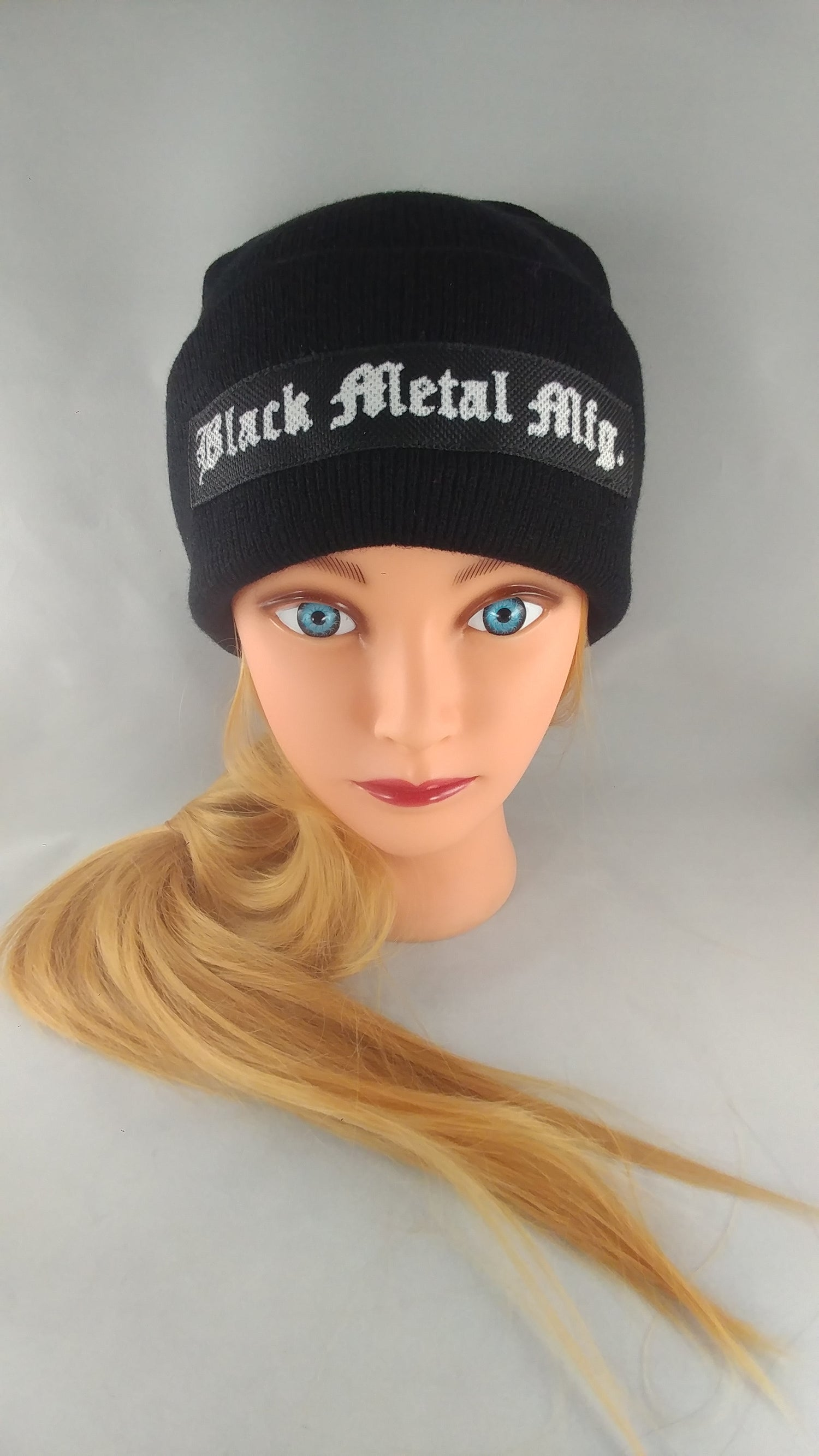 Image of Black Metal Mfg. Patch Beanies