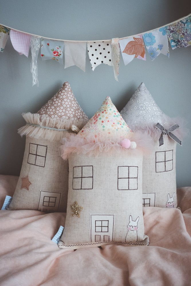 Image of Celestial liberty petitie bunny house cushion