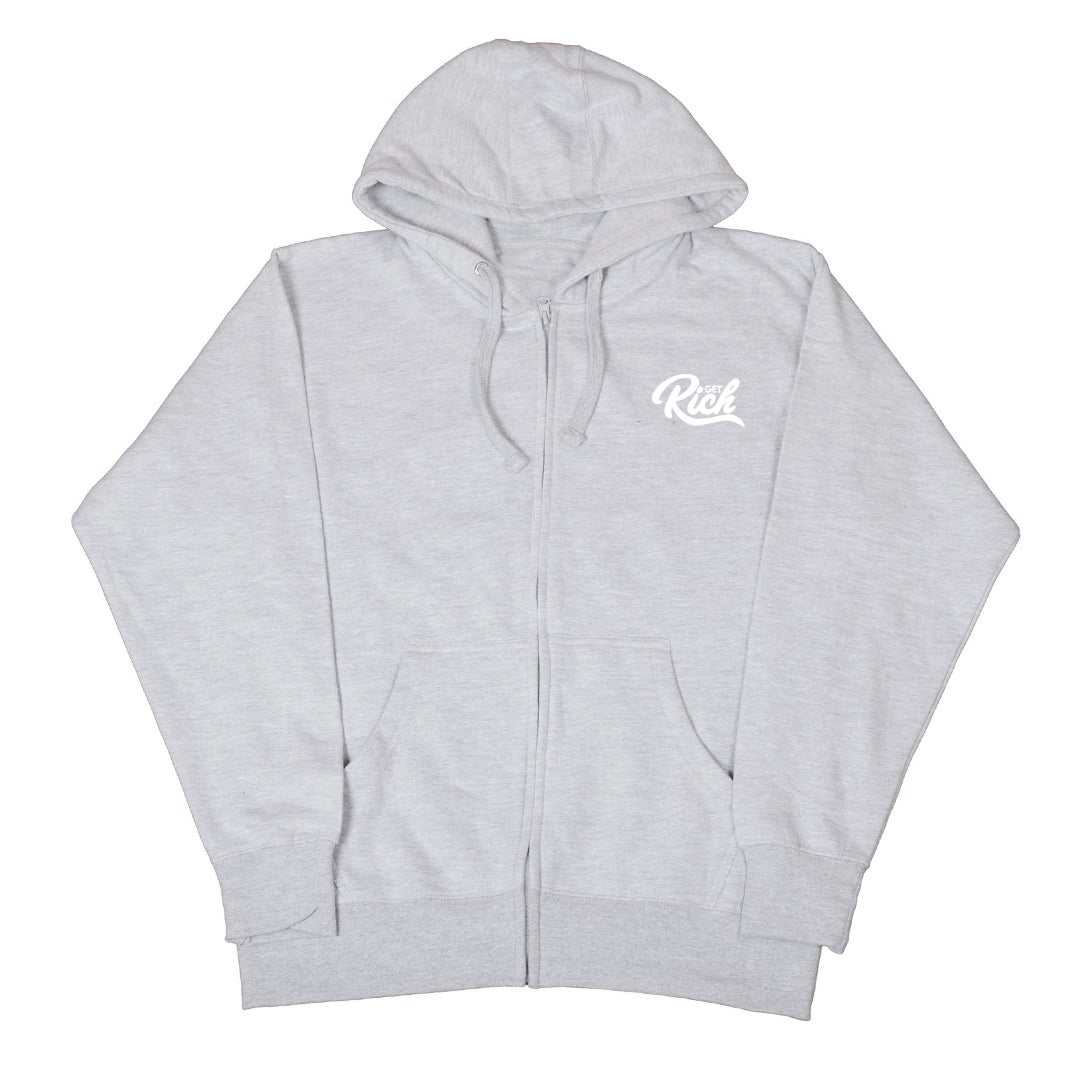 "Image of Get Rich ""Zip-Up"" Sweatsuit Set - Grey"