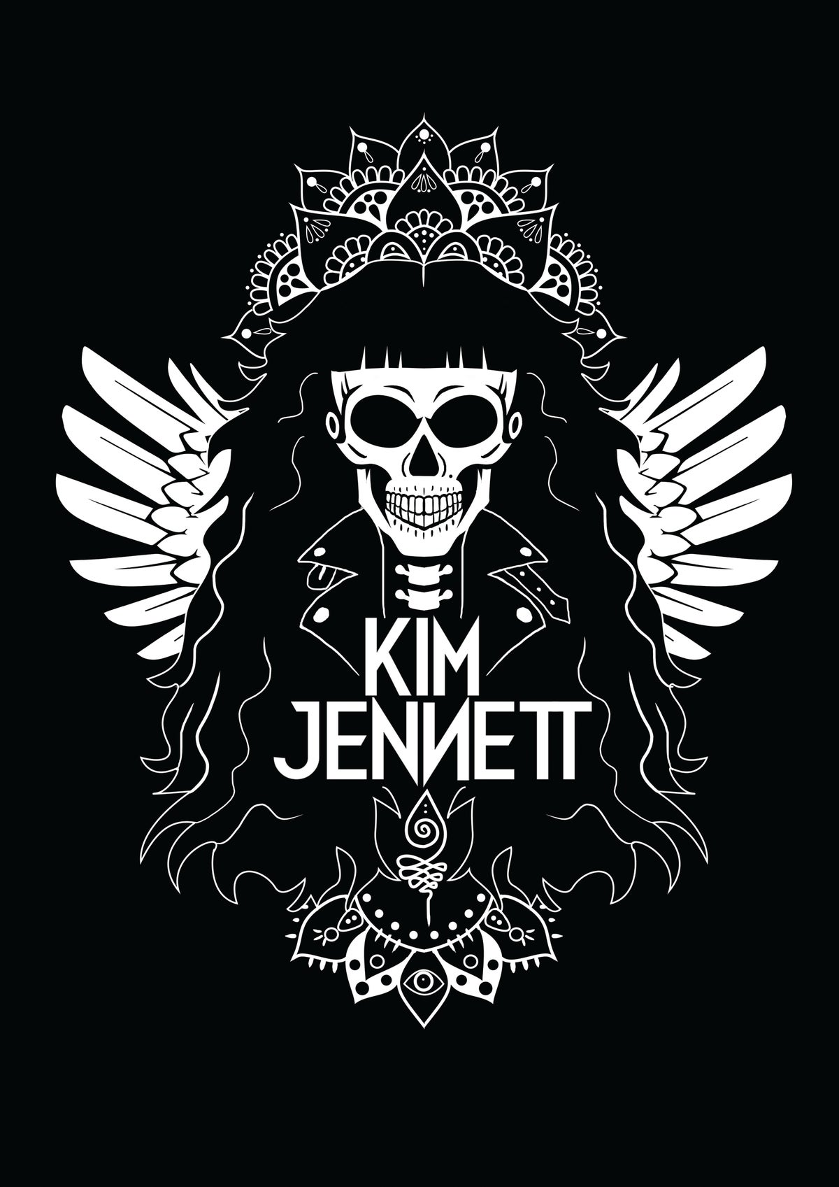 Image of Kim Jennett Signed Poster - Artwork