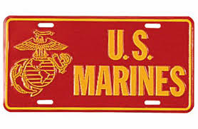 Image of U.S. Marines License Plate