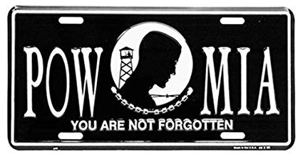 Image of POW MIA License Plate