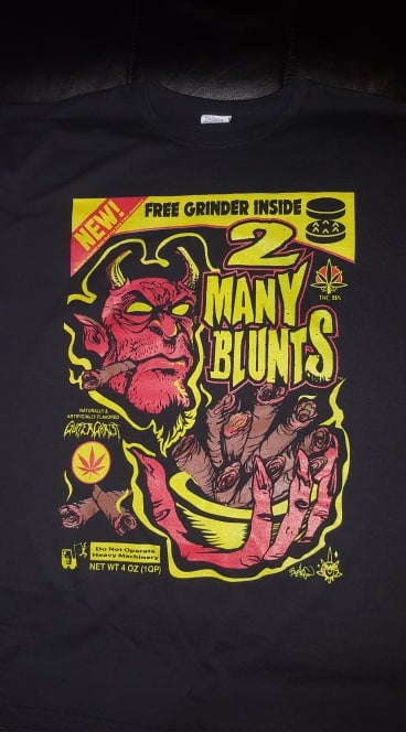 Image of 2 MANY BLUNTS CLOTHING CEREAL T SHIRT