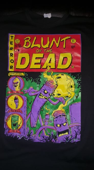 Image of 2 MANY BLUNTS CLOTHING BLUNT OF THE DEAD T SHIRT
