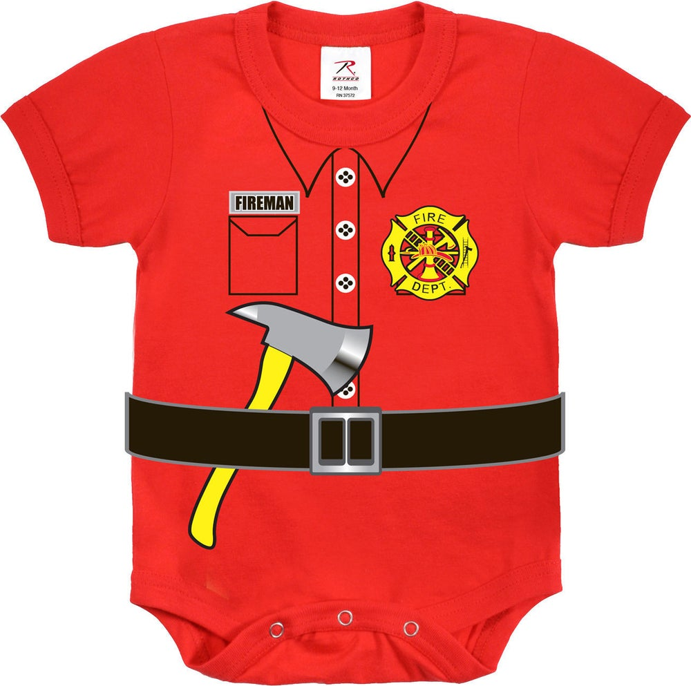 "Image of Infant ""Fireman"" One-piece"