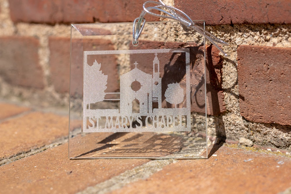 Image of Chapel Sign Glass Ornament