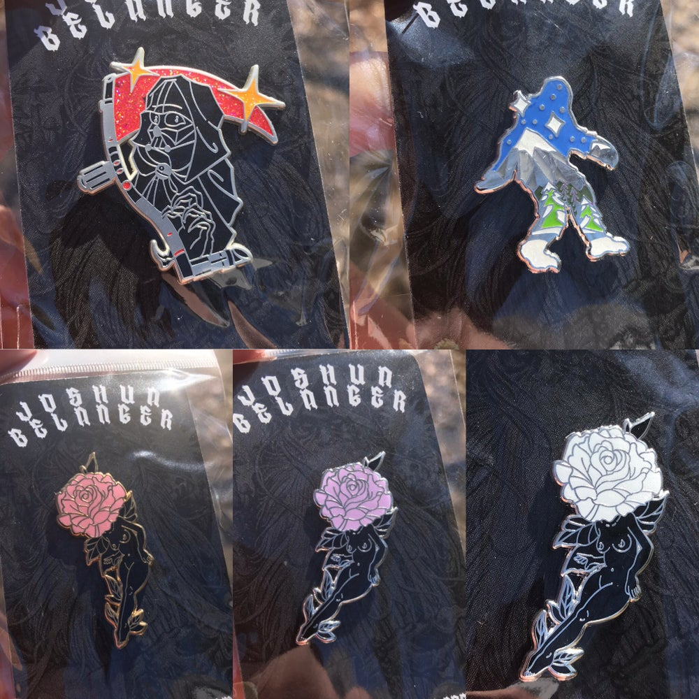 Image of UFO - Vader - Bigfoot -Flower PINS