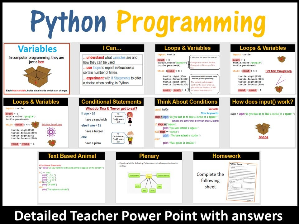 Python Programming – Coding & Drawing with Python Turtle