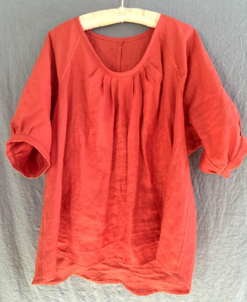 Image of poppy linen blouse